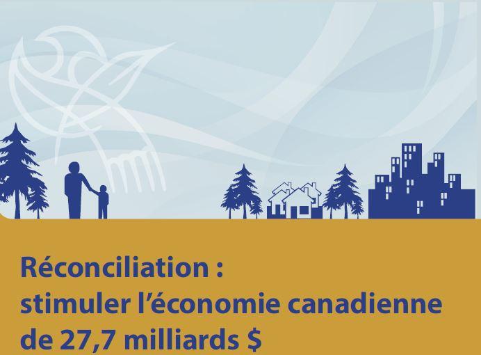 Réconciliation : stimuler l'économie canadienne de 27,7 milliards $